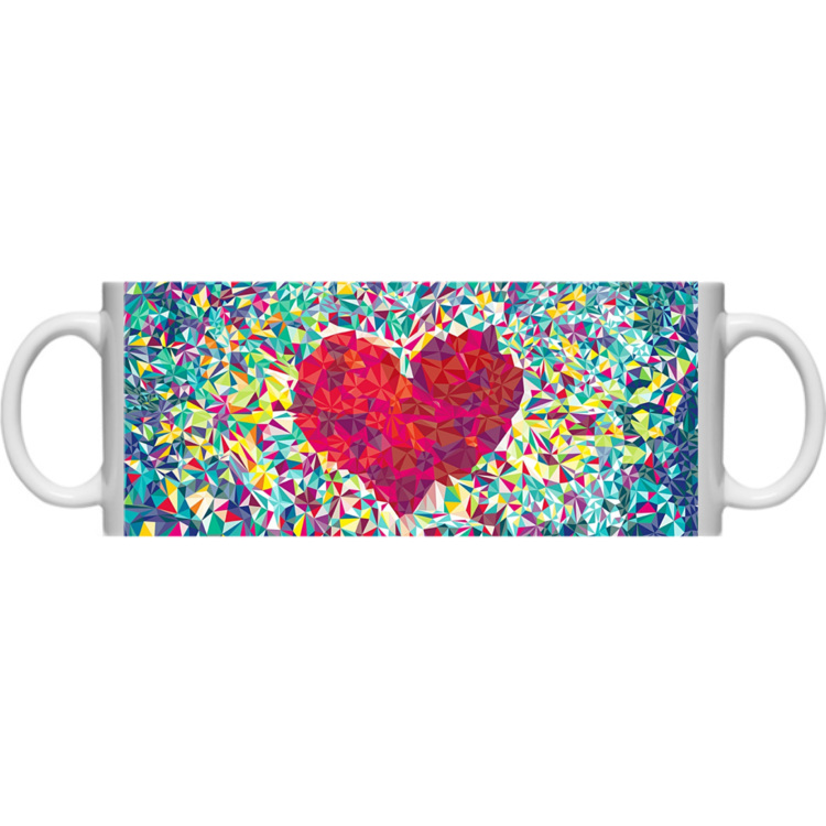 Kubek full print Geometric heart 35727